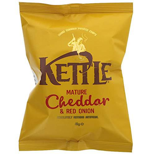 KETTLE Chips Mature Cheddar & Red Onion 40g