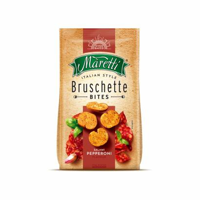 MARETTI BRUSCHETTE CHIPS WITH SALAMI PEPPERONI FLAVOUR 70 G