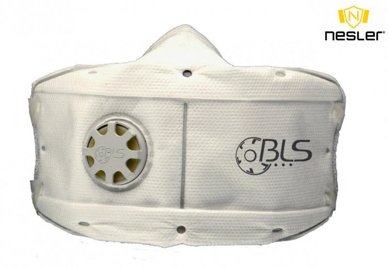BLS 860 FFP3 R D többször használható részecskeszűrő maszk