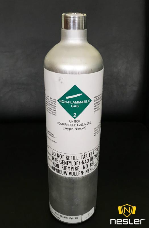 Kalibráló gáz, 34 liter klórgáz Cl2 (10ppm)