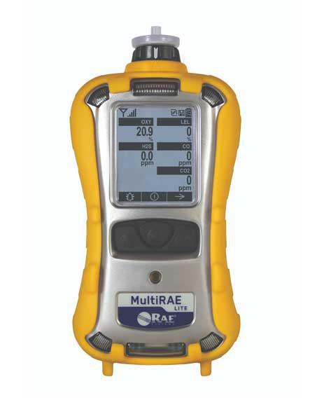 MultiRAE Lite gázdetektor CO2(szén-dioxid)/O2(oxigén)/LEL(éghető gázok)/CO(szén-monoxid)/H2S(kén-hidrogén) beépített szivattyúval
