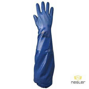 SHOWA NSK26 hosszú szárú nitril vegyszerálló kesztyű