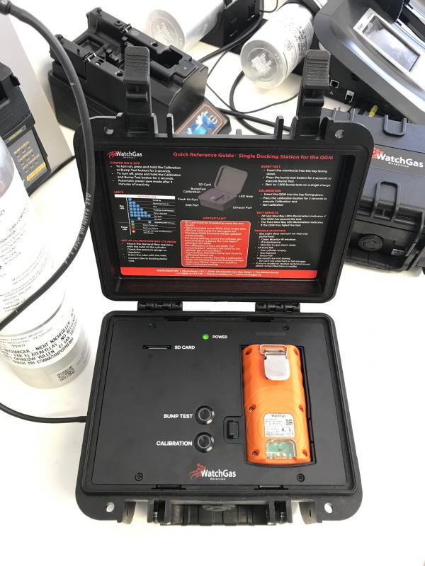 WatchGas MonoDock automata kalibráló- és bumpteszt állomás QGM készülékekhez
