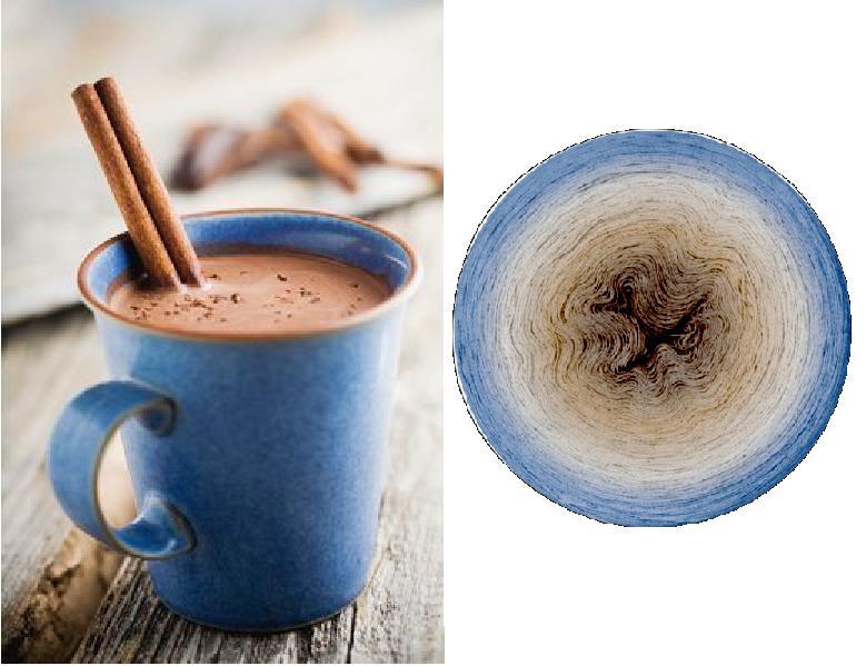 Forró kakaó (pamut-akril)