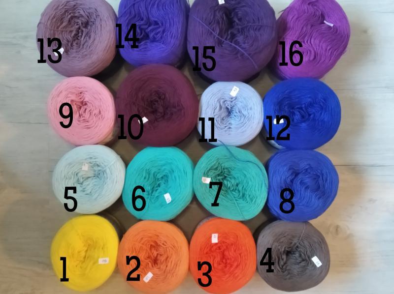Kokonki egyedi színek 1-16