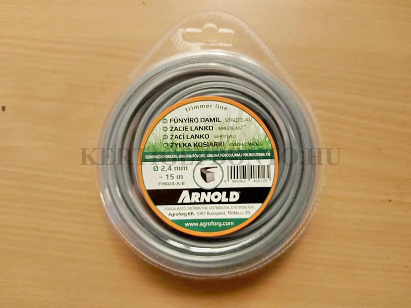 Fűkasza damil szögletes ( aluminiumos ) 2.4 mm ( 15 méter )