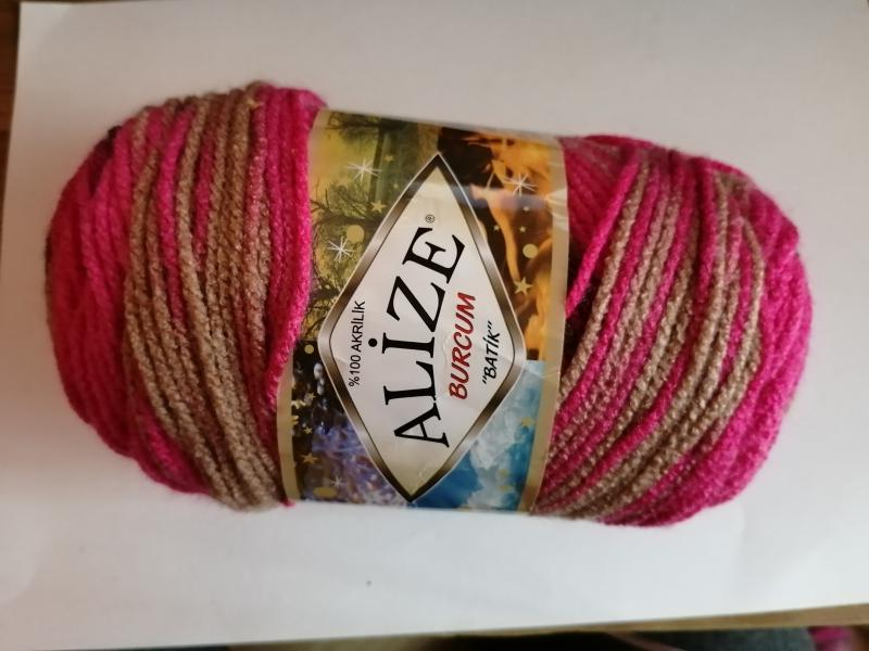 Alize Burcum Batik 7157 - Barna/pink