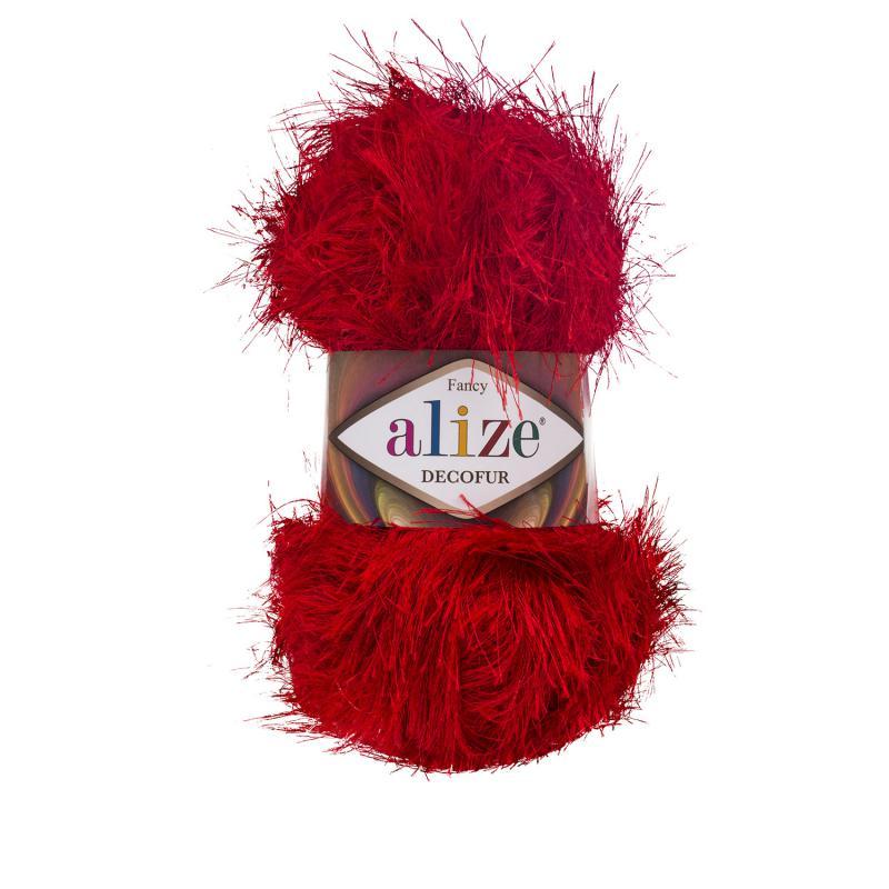 Alize Decofur 56 tűz piros