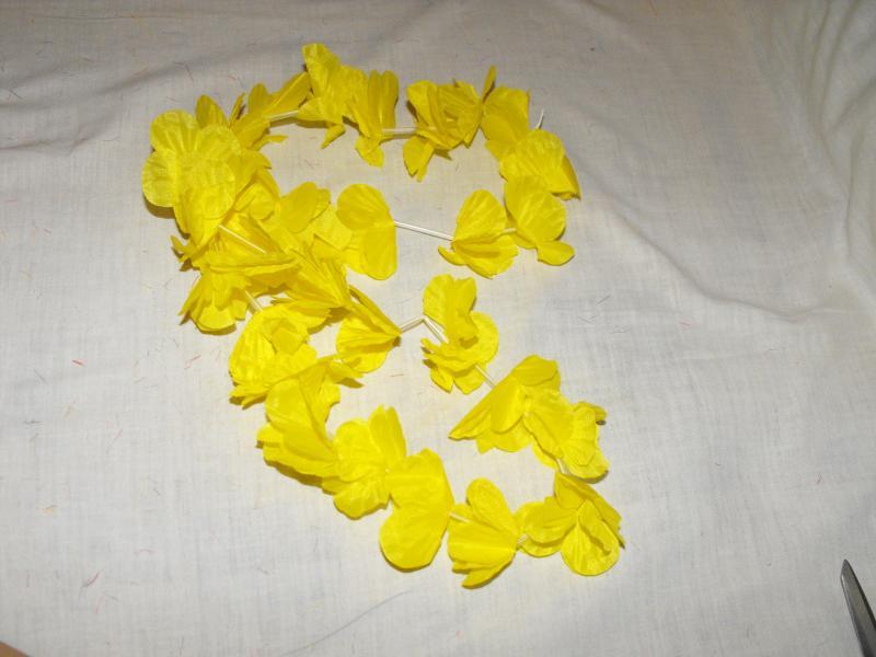 Hawaii füzér citromsárga