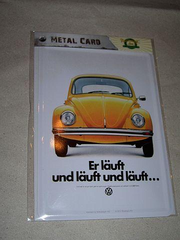 Kafer fém képeslap