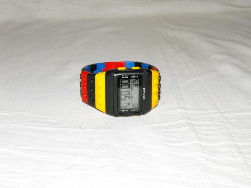 Lego óra citrosárga piros kék