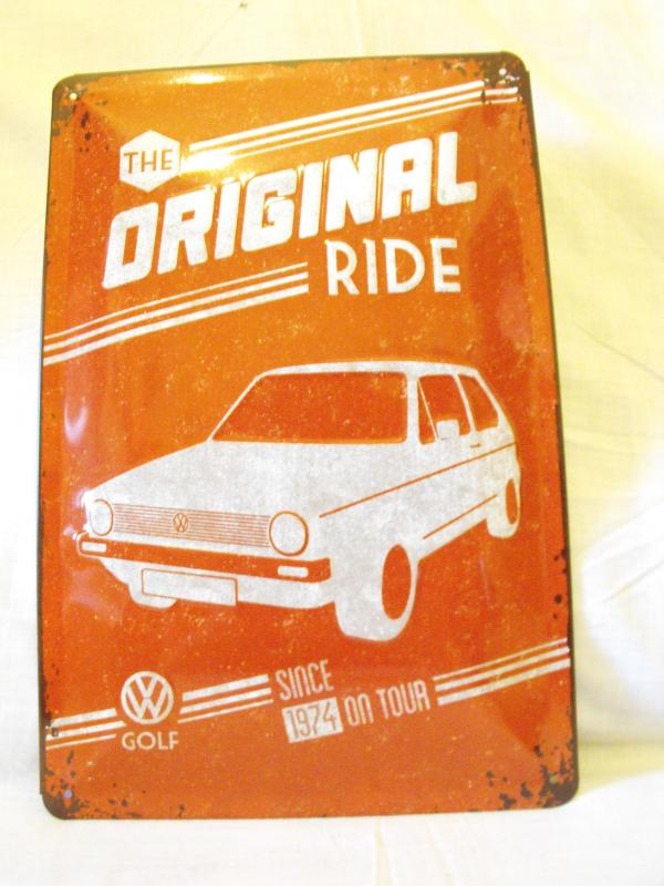 Original ride Golf I fémtábla 20x30