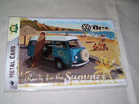 Transzporter beach fém képeslap