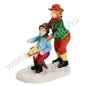 Apa és fia lovas játékkal játszik 6 cm