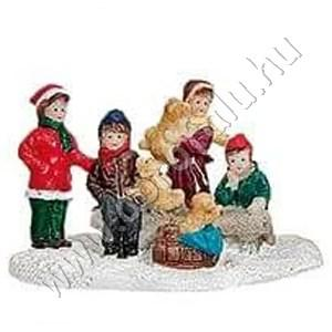 Gyerekek kutyusokkal 7 cm