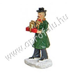 Idősebb úr ajándékokkal 4 cm