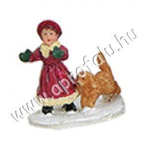 Kislány kutyussal 3 cm