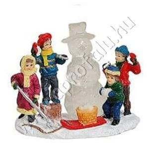 Gyerekek jégszobrot készítenek (hóember) 6 cm