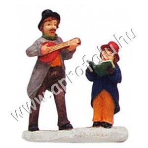 Zenész apa és éneklő lánya 6 cm