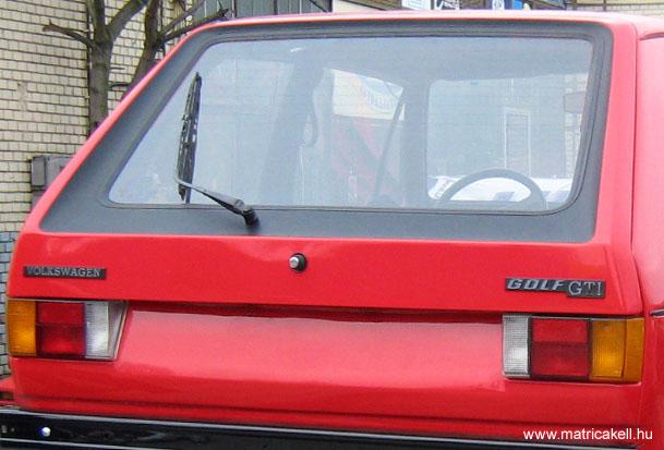 Golf I. GTI / GTD csomagtérajtó dekor