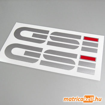 GSI felirat matrica