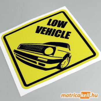 Low vehicle Golf 2 matrica