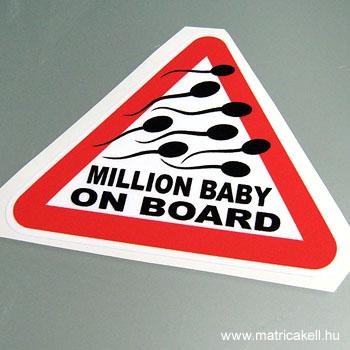 Million Baby on Board matrica