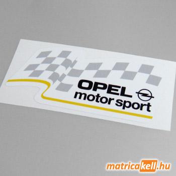 Opel Motorsport matrica (fehér)