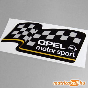 Opel Motorsport matrica (fekete)