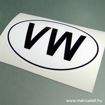 VW felségjelzés matrica