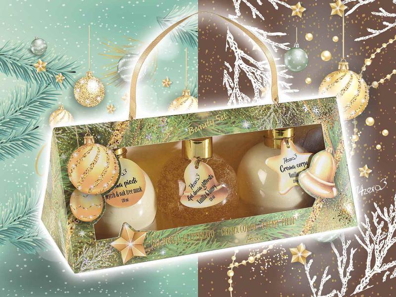 """""""Christmas"""" ajándékdoboz 3 féle testápoló termékkel díszdobozban"""