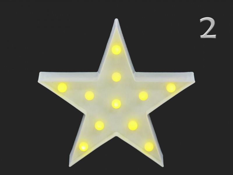11 LEDes fali világító csillag 26 cm