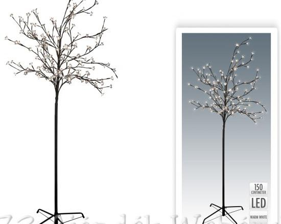 120 led-es világító fa melegfehér fénnyel