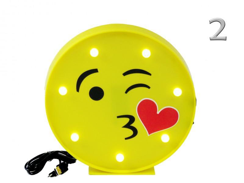 7 LEDes fali világító Smiley USB kábellel