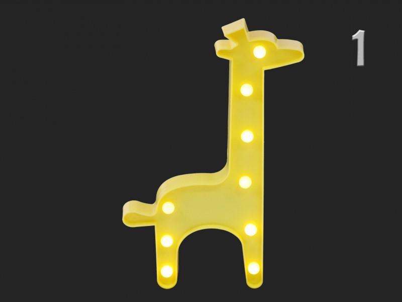 9 LEDes fali világító zsiráf 30 cm
