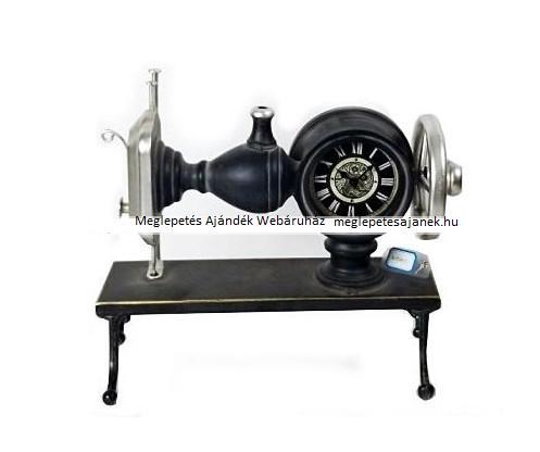 Asztali retro Singer varrógép formájú óra