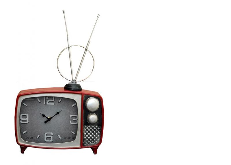 Asztali retro TV formájú óra