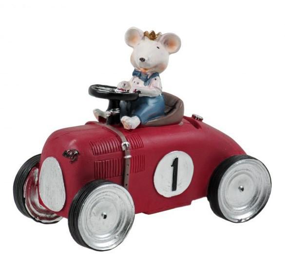 Autó formájú persely állat figurákkal