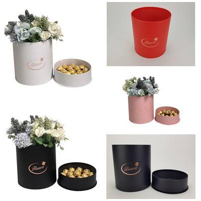 Bonbon és virágdoboz egyben - fehér, fekete, rózsaszín vagy piros színben