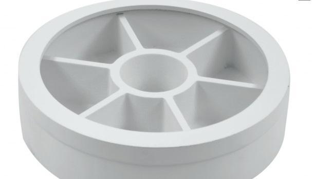 Díszdoboz kerek fehér üveg tetővel 7 fakkos 20 cm