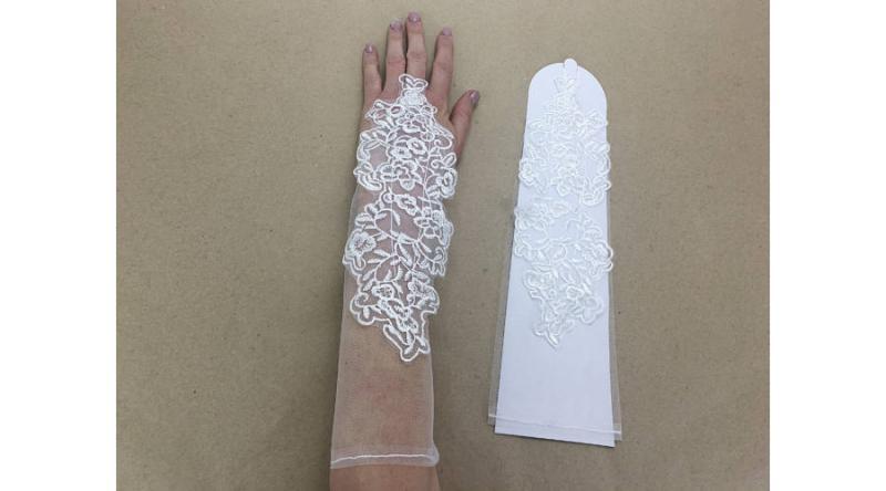 Esküvői csipke kesztyű 1 pár