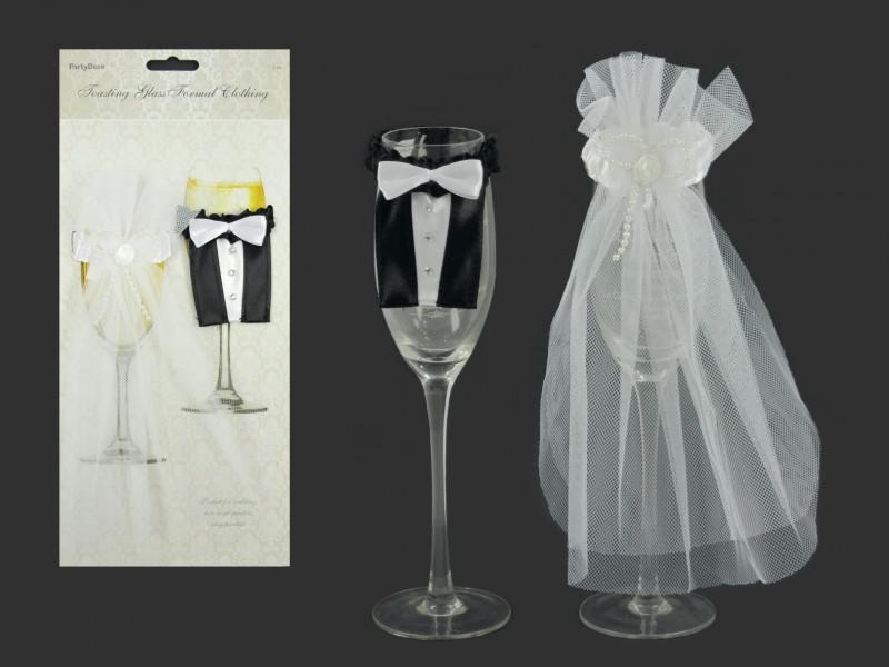 Esküvői pohár dekoráció