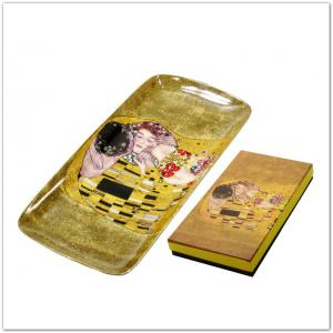 Klimt fekete vagy arany tál díszdobozban