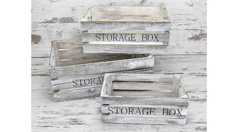 Fa rekesz storage box 3 db-os 2 féle