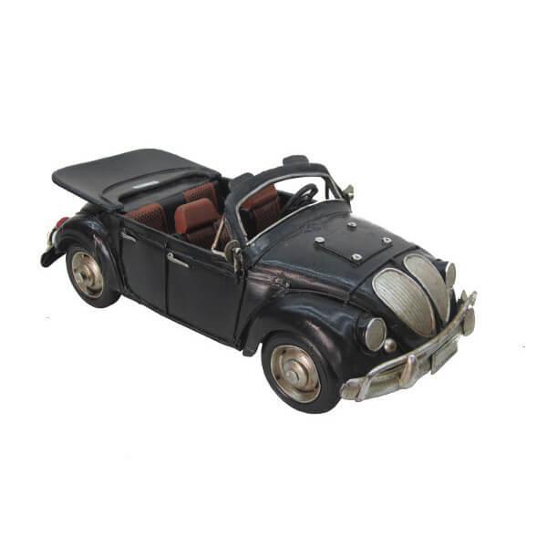 Fém retro cabrio autó modell, makett