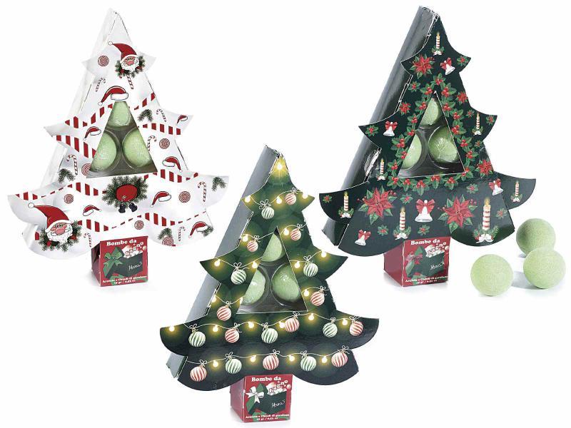 Karácsonyi 5 db-os fürdőbomba díszdobozban