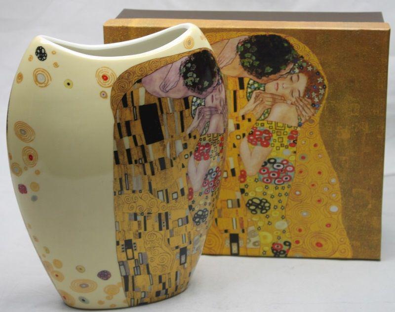 Klimt, A csók mintájú váza, új design