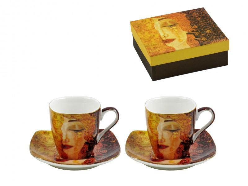 Klimt kávés csésze + alátét 2 db díszdobozban
