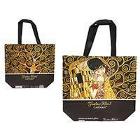 Klimt műanyag táska - kétoldalas - A csók / Életfa