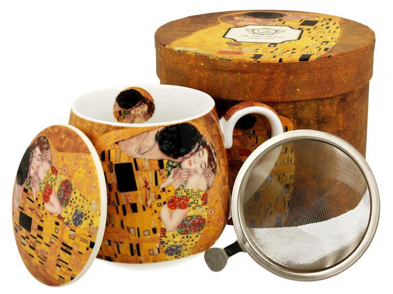 Klimt porcelán bögre szűrővel, 430 ml, díszdobozban